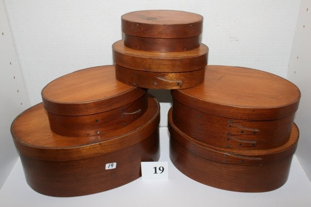 6 Reproduction Shaker Nesting Boxes