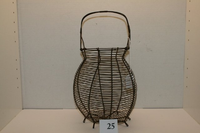 Old Metal Wire Basket