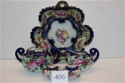 (5) pcs. Unmarked Nippon Glassware
