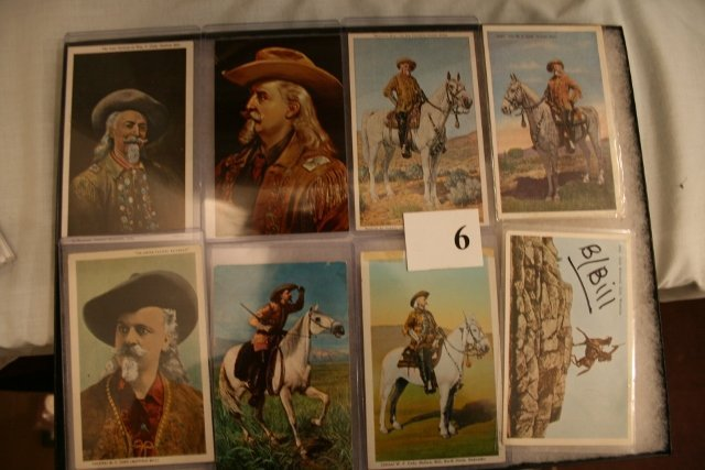 8 Fine Buffalo Bill Post Cards