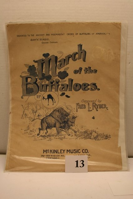 Music Sheet March of the Buffalos