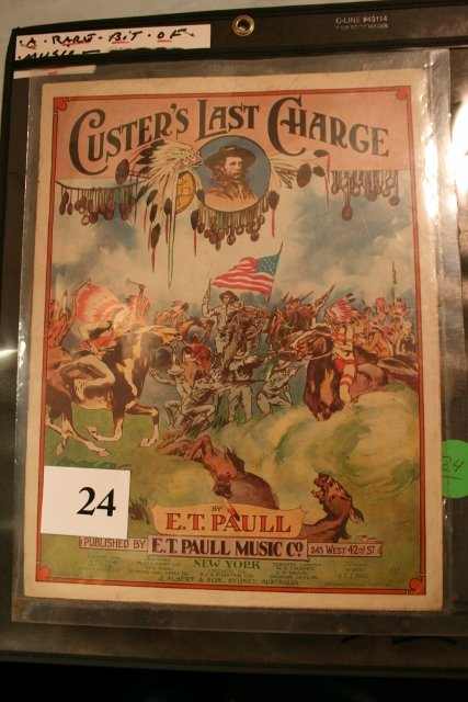 "Sheet Music 1922 ""Custer's Last Charge"