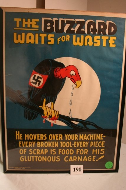 "The Buzzard Waits for Waste"" Poster"