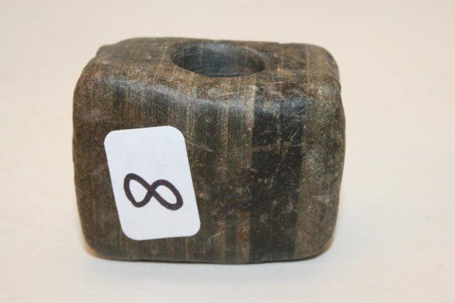 Banded Slate Square Pipe Bowl
