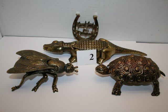 4 Pcs. Brass – Turtle, Alligator Ashtray