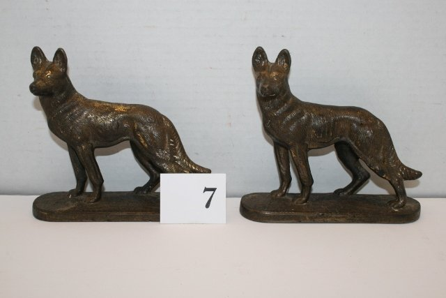 Pair of Brass Dog Bookends