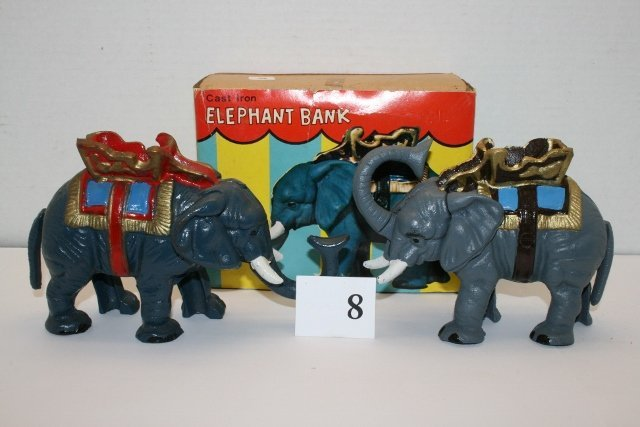 (2) Newer Mechanical Elephants