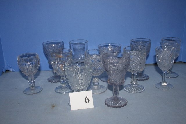 (12) Clear Glass Goblets