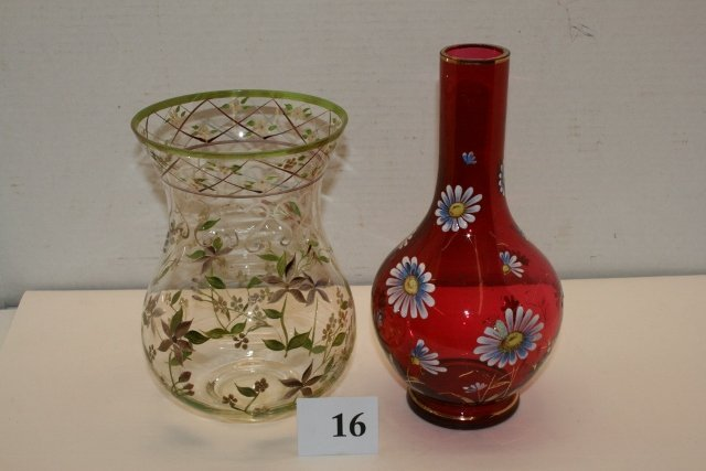 (2) pc. Victorian Tall Vases