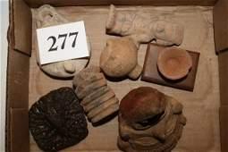 6 Pottery Stone Figures