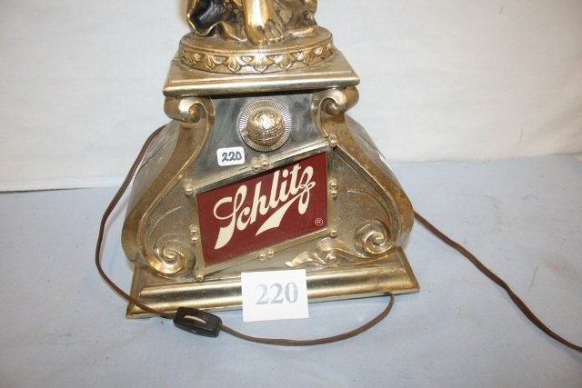 Plastic Schlitz Beer Light with Lady Statue - 2
