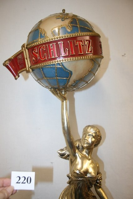 Plastic Schlitz Beer Light with Lady Statue - 3