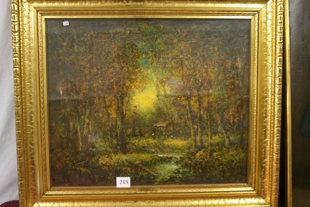 Frame with Forest Scene Painting