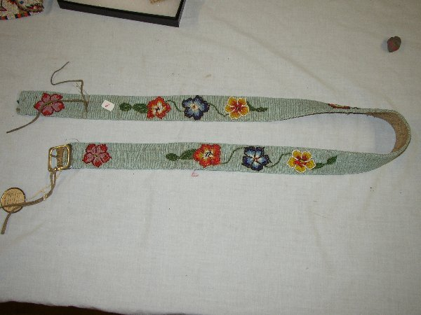 "8: 48"" Ogalaga Sioux Beaded Belt"