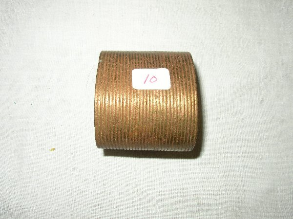 """10: 2"""" Brass Indian Grooved Bracelet"""