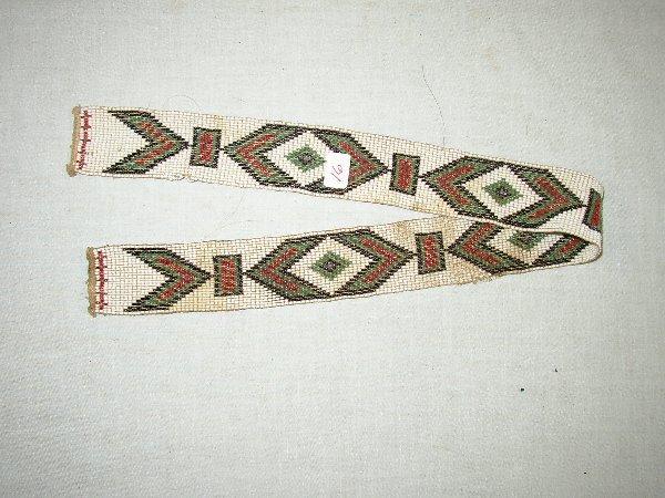 """16: 23 1/4"""" Loom Beaded Strip"""