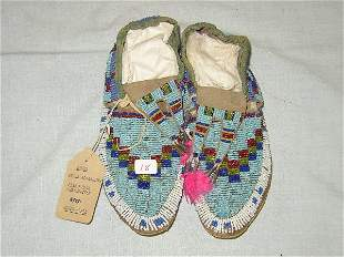 """8"""" Girl's Beaded Moccasins"""