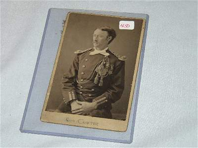 """450: 6 3/8"""" D.F. Barry Cabinet Photo of Tom Custer"""