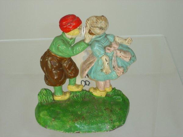 8: Hubley Dutch Boy & Girl Door Stop