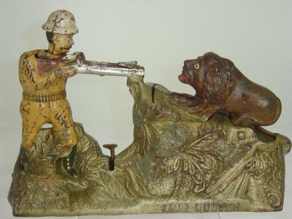 274: Lion Hunter Mechanical Bank