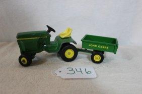 John Deere Lawn Tractor W/trailer