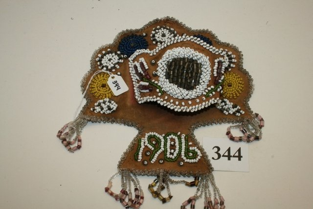 Beaded 1906 Broom Holder