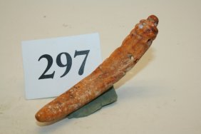 Bone Pendant Effigy Figure