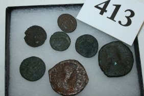 (7) Ancient Roman Coins