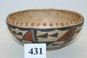 Polychrome Acoma, Pie Crust Bowl