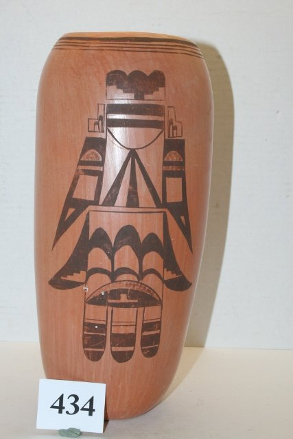 Red Katswa Hopi Cylinder Jar