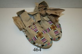Pair Child's Northern Plains Moccasins