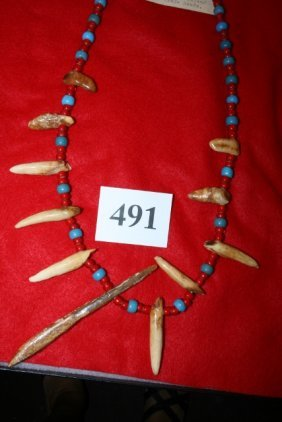 Blue- Red Trade Beads