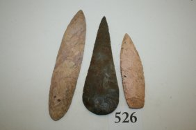 3 Contemporary Flint Blades – Largest 8 ¼""