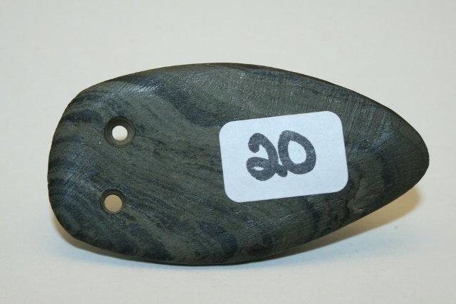Banded Slate Owl Pendant