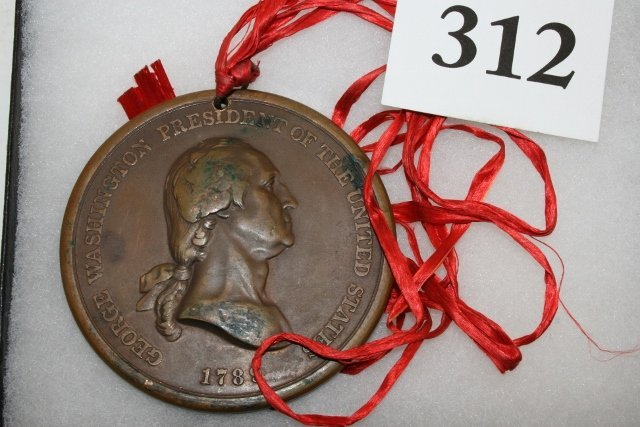Bronze Washington 1789 Peace Medal