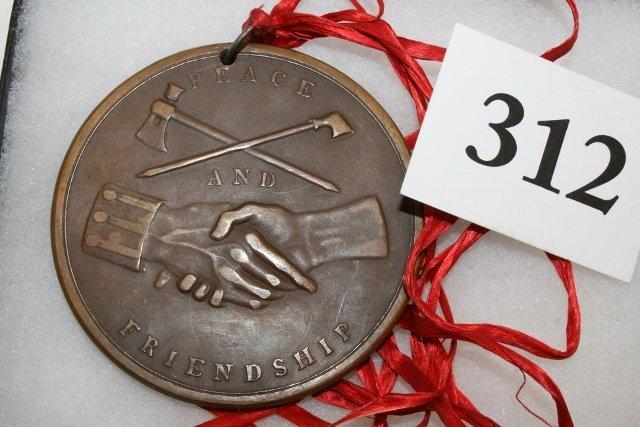 Bronze Washington 1789 Peace Medal - 2