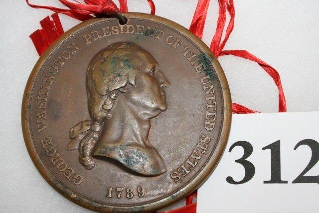 Bronze Washington 1789 Peace Medal - 3