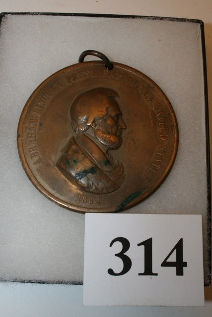 Bronze Lincoln 1862 Peace Medal