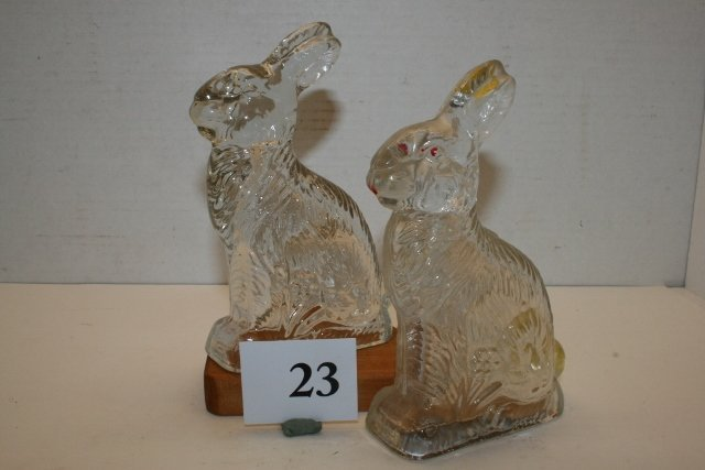 2 Rabbit Candy Containers