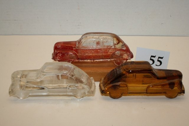 3 Car Candy Containers