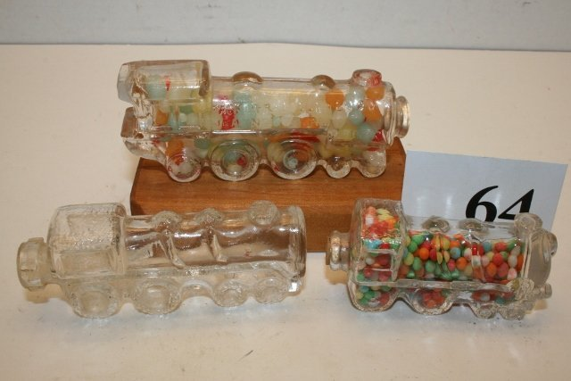 3 Locomotive Candy Containers