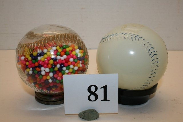 2 Baseball Candy Containers