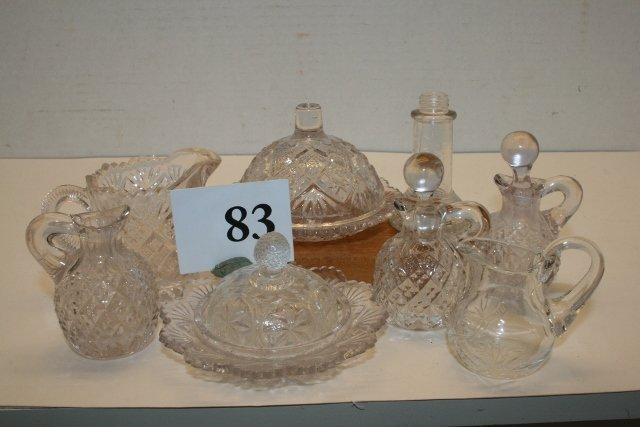 Childs Assorted Pressed Glass Dishes