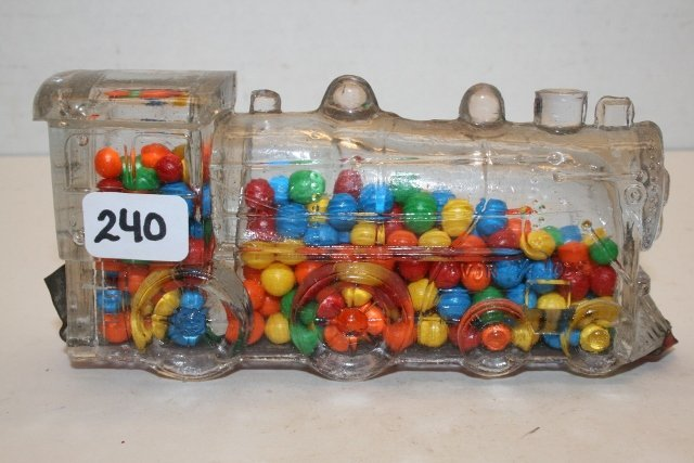 Double Window 888 Locomotive Candy Container