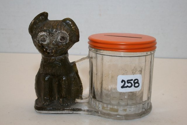Dog by Barrel Candy Container
