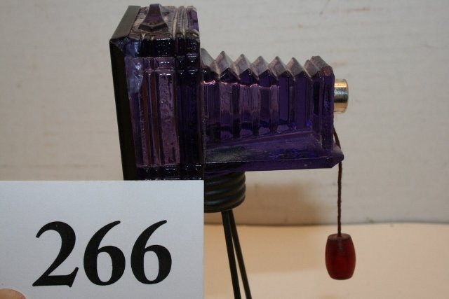 Purple Glass Camera Candy Container - 3