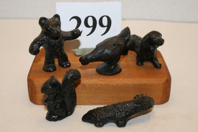 6 Cast Iron Animals