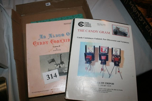 4 Candy Container Books, The Candy Gram and Julia