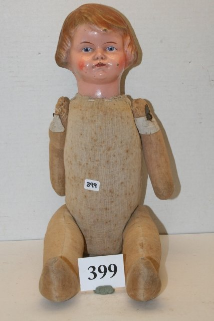 Doll with composition head