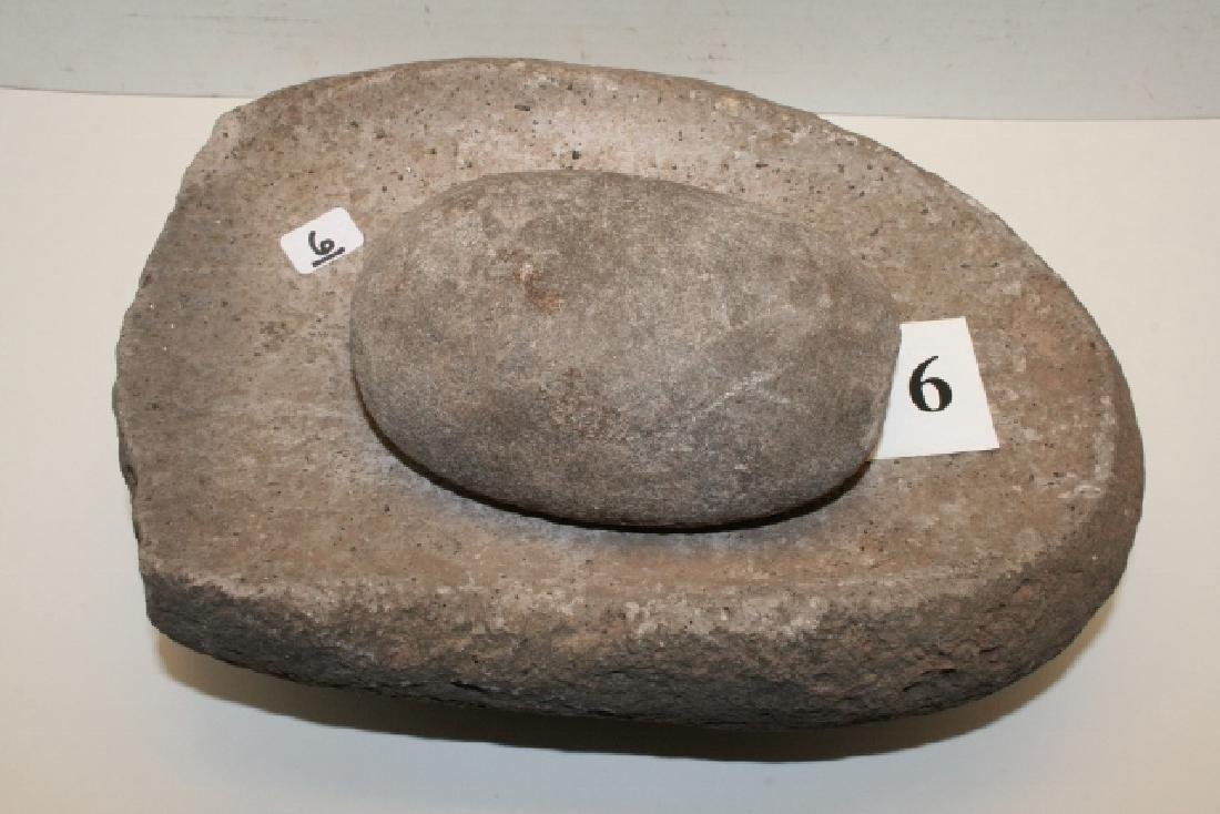 Stone Metate and Stone Mano
